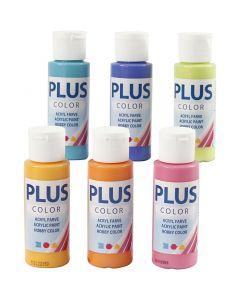 Plus Color- askartelumaali, värikäs, 6x60 ml/ 1 pkk