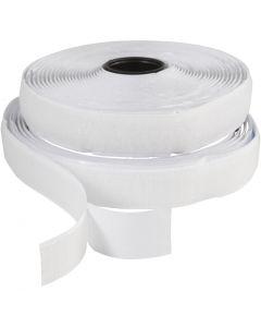 Velcronauha, Lev: 20 mm, valkoinen, 5 m/ 1 rll