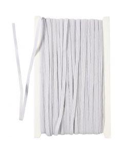 Kuminauha, Lev: 6 mm, valkoinen, 50 m/ 1 rll