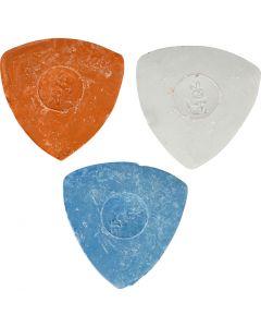 Räätälinliitu, halk. 5,5 cm, sininen, punainen, valkoinen, 3 kpl/ 1 pkk