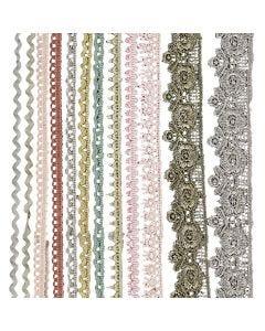 Pitsinauhalajitelma, Lev: 10-25 mm, värilajitelma, 12x3 m/ 1 pkk