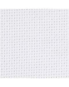 Aida kangas, koko 50x50 cm, 70 neliötä per 10cm, valkoinen, 1 kpl