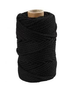 Makrameenyöri, Pit. 55 m, halk. 4 mm, musta, 330 g/ 1 rll