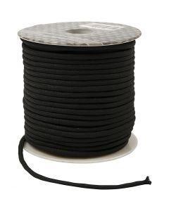 Makraményöri, paksuus 4 mm, musta, 40 m/ 1 rll