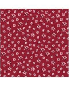 Puuvillakangas, Lev: 145 cm, 140 g, punainen, 1 jm