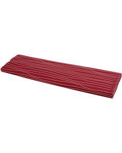 Puuvillakangas, Lev: 145 cm, 140 g, punainen/valkoinen, 10 m/ 1 rll