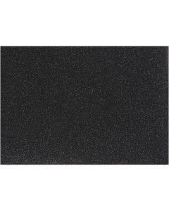 Silityskalvo, 148x210 mm, kimalle, musta, 1 ark