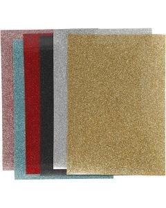 Silityskalvo, 148x210 mm, kimalle, värilajitelma, 6 ark/ 1 pkk