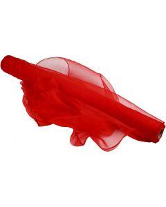 Organza, Lev: 50 cm, punainen, 10 m/ 1 rll