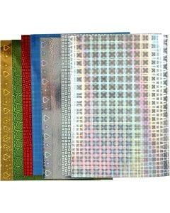 Hologrammipaperi, A4, 210x297 mm, 120 g, 8 laj/ 1 pkk