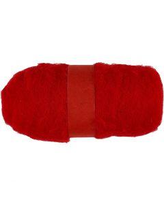 Karstattu villa, punainen, 100 g/ 1 kerä