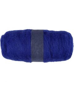 Karstattu villa, sininen, 100 g/ 1 kerä