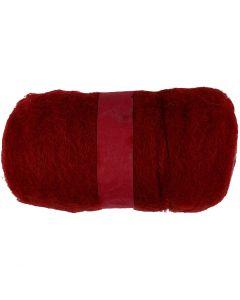 Karstattu villa, lämmin punainen, 100 g/ 1 kerä