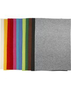 Askarteluhuopa, 42x60 cm, paksuus 3 mm, värilajitelma, 12 laj/ 1 pkk