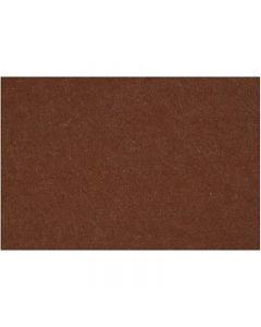 Askarteluhuopa, 42x60 cm, paksuus 3 mm, ruskea, 1 ark