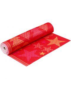 Kuvioitu huopa, Lev: 45 cm, paksuus 1,5 mm, 180-200 g, oranssi, punainen, 5 m/ 1 rll