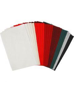 Askarteluhuopa, 20x30 cm, paksuus 1,5 mm, 180-200 g, värilajitelma, 24 laj/ 1 pkk