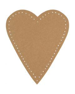 Sydän, Kork. 12 cm, Lev: 10 cm, 350 g, luonnonrusk., 4 kpl/ 1 pkk