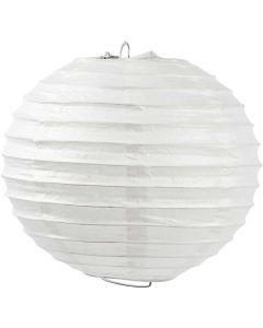 Paperilamppu, Pyöreä, halk. 20 cm, valkoinen, 1 kpl