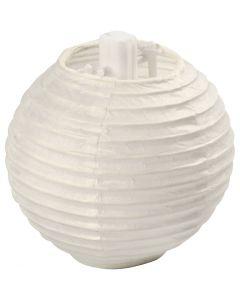 Paperilamppu, halk. 7,5 cm, valkoinen, 10 kpl/ 1 pkk
