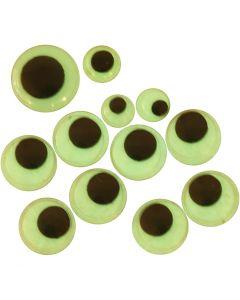 Liikkuvat silmät, tarrataustaiset, halk. 8+10+14 mm, 30 laj/ 1 pkk