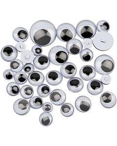 Liikkuvat silmät, ommeltavat, halk. 8-20 mm, 250 laj/ 1 pkk