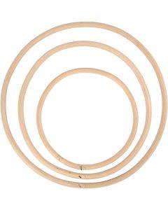 Bamburengas, halk. 15,3+20,3+25,5 cm, 3 kpl/ 1 set