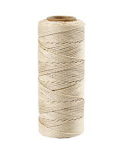 Bambulankaa, paksuus 1 mm, luonnonvalkonen, 65 m/ 1 rll
