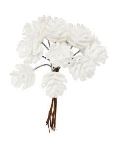 Muovimarjat, halk. 20 mm, valkoinen, 12 kpl/ 1 pkk