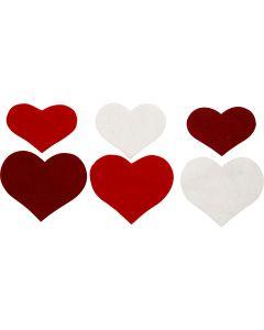 Sydämet, Kork. 35+40+50 mm, paksuus 1,5 mm, 180-200 g, 225 kpl/ 1 pkk