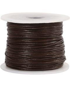 Nahkanauha, paksuus 1 mm, ruskea, 50 m/ 1 rll