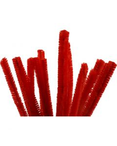 Askartelupunokset, Pit. 30 cm, paksuus 15 mm, punainen, 15 kpl/ 1 pkk