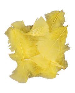 Höyhenet, koko 7-8 cm, keltainen, 50 g/ 1 pkk