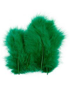 Höyhenet, koko 5-12 cm, vihreä, 15 kpl/ 1 pkk