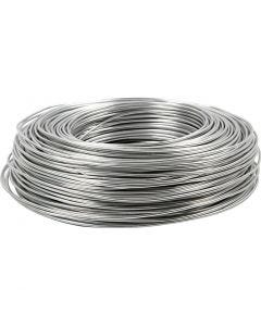 Alumiinilanka, pyöreä, paksuus 2 mm, hopea, 100 m/ 1 rll