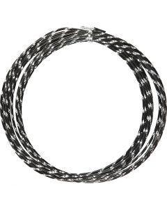 Alumiinilanka, timanttileikattu, paksuus 2 mm, musta, 7 m/ 1 rll