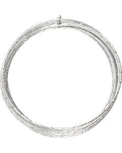 Alumiinilanka, timanttileikattu, paksuus 2 mm, hopea, 7 m/ 1 rll