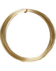 Alumiinilanka, pyöreä, paksuus 1 mm, kulta, 16 m/ 1 rll