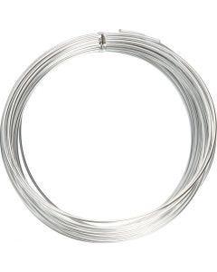 Alumiinilanka, pyöreä, paksuus 2 mm, hopea, 10 m/ 1 rll