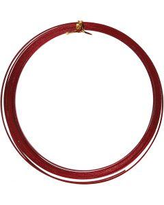 Alumiinilanka, litteä, Lev: 3,5 mm, paksuus 0,5 mm, punainen, 4,5 m/ 1 rll