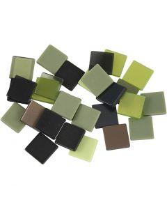 Minimosaiikit, koko 10x10 mm, glitter vihreä, 25 g/ 1 pkk