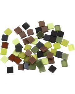 Minimosaiikit, koko 5x5 mm, glitter vihreä, 25 g/ 1 pkk