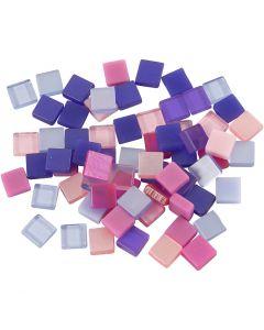 Minimosaiikit, koko 5x5 mm, violetti/tummanvioletti, 25 g/ 1 pkk