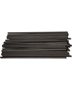 Muovipillit, Pit. 12,5 cm, halk. 3 mm, musta, 800 kpl/ 1 pkk
