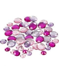 Akryylitimantit, pyöreät, koko 6+9+12 mm, violetti, 360 kpl/ 1 pkk