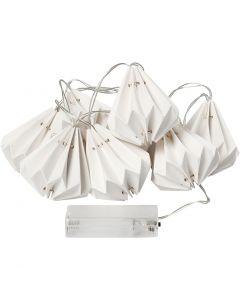 LED-valosarja lamppuineen, Kork. 80 mm, Pit. 100 cm, halk. 65 mm, valkoinen, 1 kpl