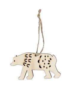 Jääkarhu, Kork. 4,5 cm, syvyys 0,5 cm, Lev: 7,5 cm, 4 kpl/ 1 pkk