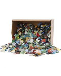 Mosaiikit, koko 8-20 mm, värilajitelma, 2 kg/ 1 pkk
