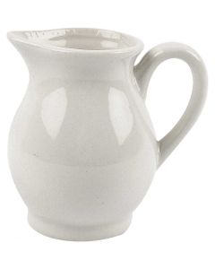 Posliinikannu, Kork. 8 cm, 120 ml, valkoinen, 12 kpl/ 1 ltk