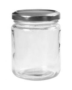 Lasipurkki, Kork. 9,1 cm, halk. 6,8 cm, 240 ml, kuulto, 12 kpl/ 1 ltk